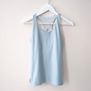 Zella pastel blue tank top with built in support